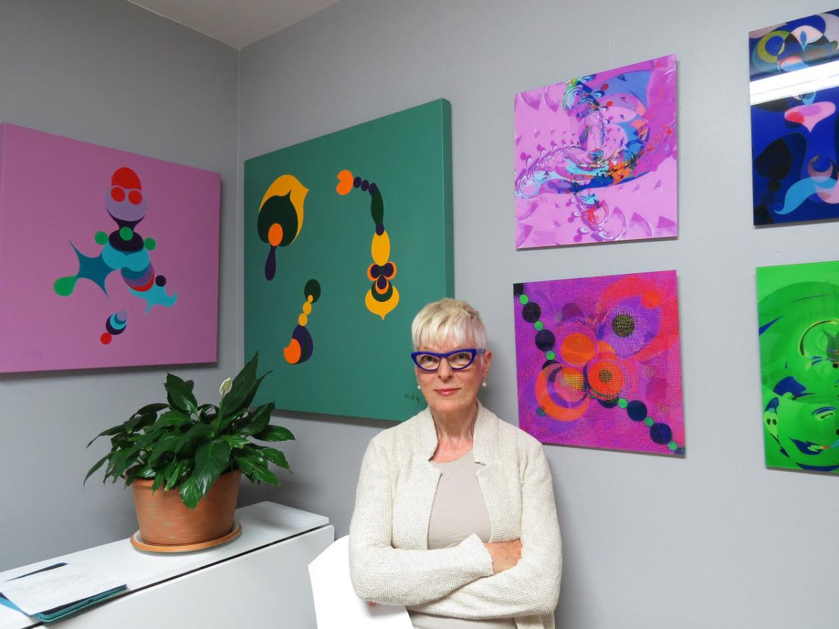 Self-taught artist Marion Di Quinzio doesn't believe in giving unsolicited advice, but leads byexample