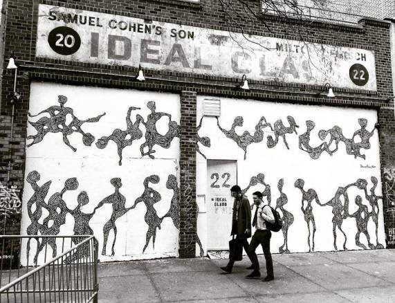 Mural at Ideal Glass Gallery, East Village